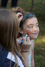 pumpkin chase face painting