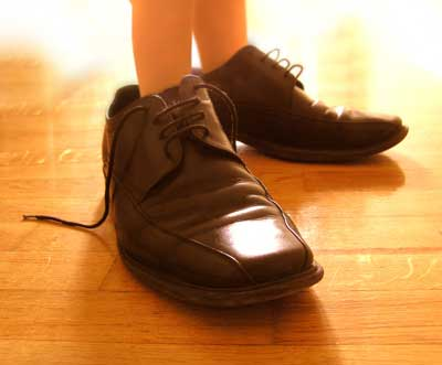 If our sons will fill our shoes, let's walk in Jesus' footsteps