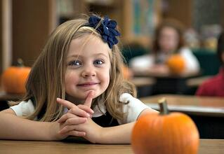 kindergarten girl | Veritas Academy | Classical Christian School