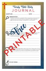 printable bible study journal sheets