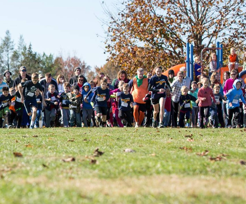 A favorite school tradition is the Great Pumpkin Chase, where elementary students run a mile while chasing our Principal...who is dressed as a pumpkin!