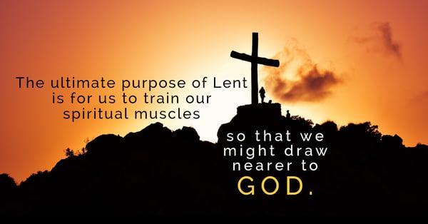 purpose of lent cross