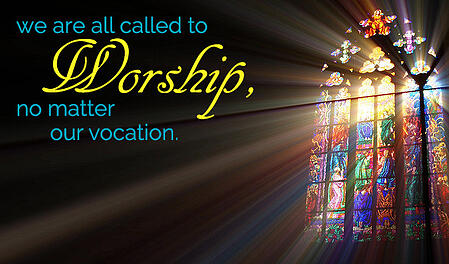 stained glass called to worship