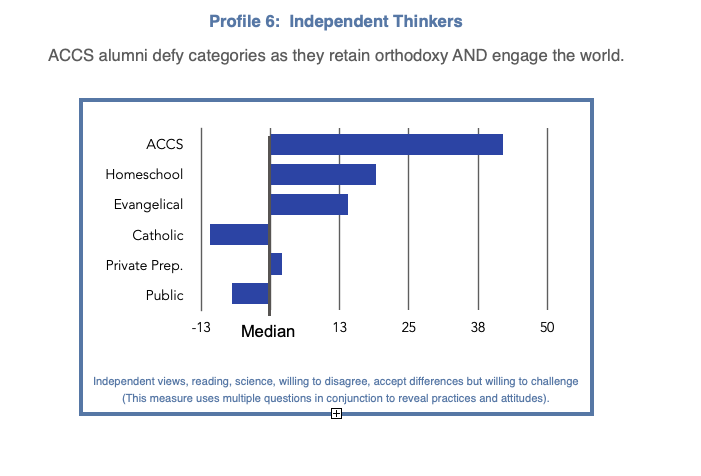 Independent Thinker Profile Blue